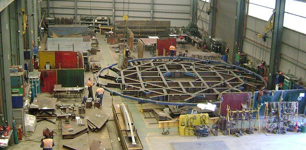 Adjustable platform fabricated for BSL Port Kembla's #5 Blast Furnace Reline.