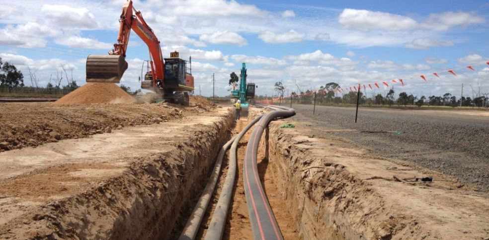 Laying pipework for Anglo American in Queensland - Grosvenor Mine